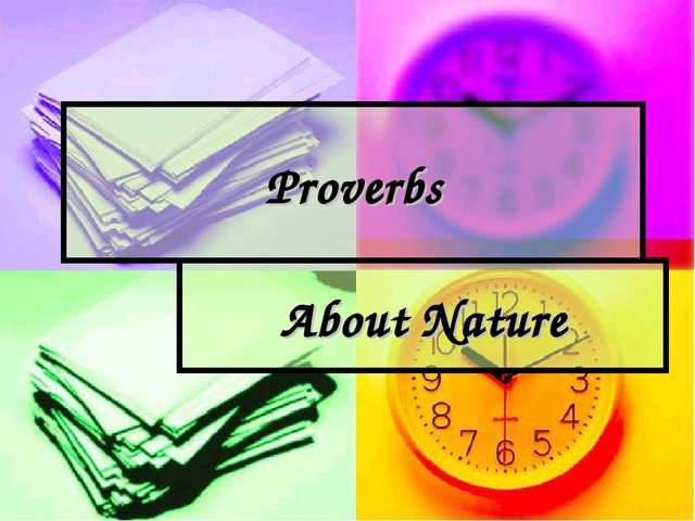 Proverbs About Nature