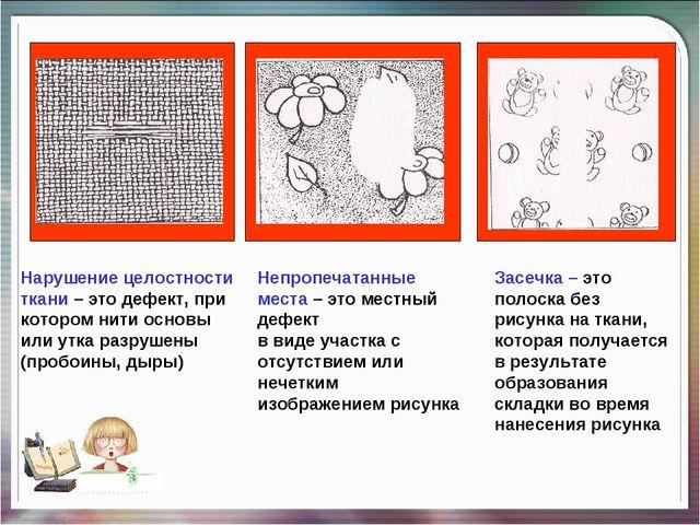 Нарушение целостности ткани – это дефект, при котором нити основы или утка ра...