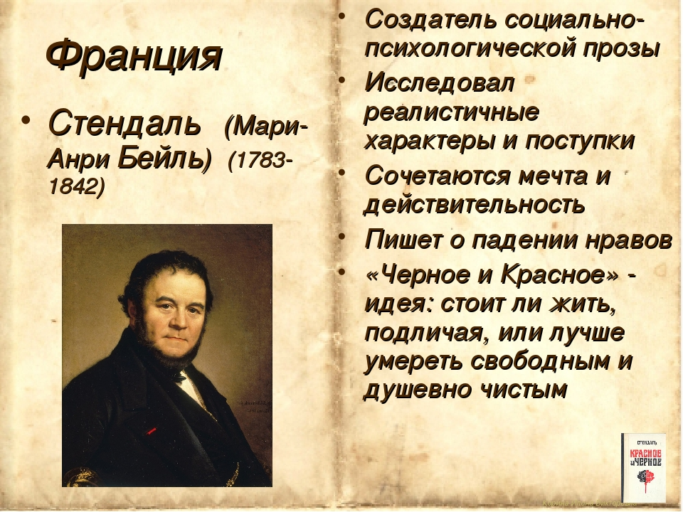 Корина Илона Викторовна Франция Стендаль (Мари-Анри Бейль) (1783-1842) Создат...