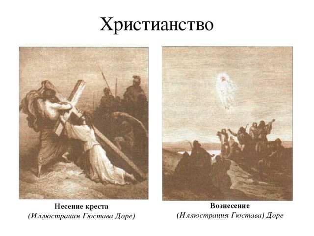 Христианство Несение креста (Иллюстрация Гюстава Доре) Вознесение (Иллюстраци...