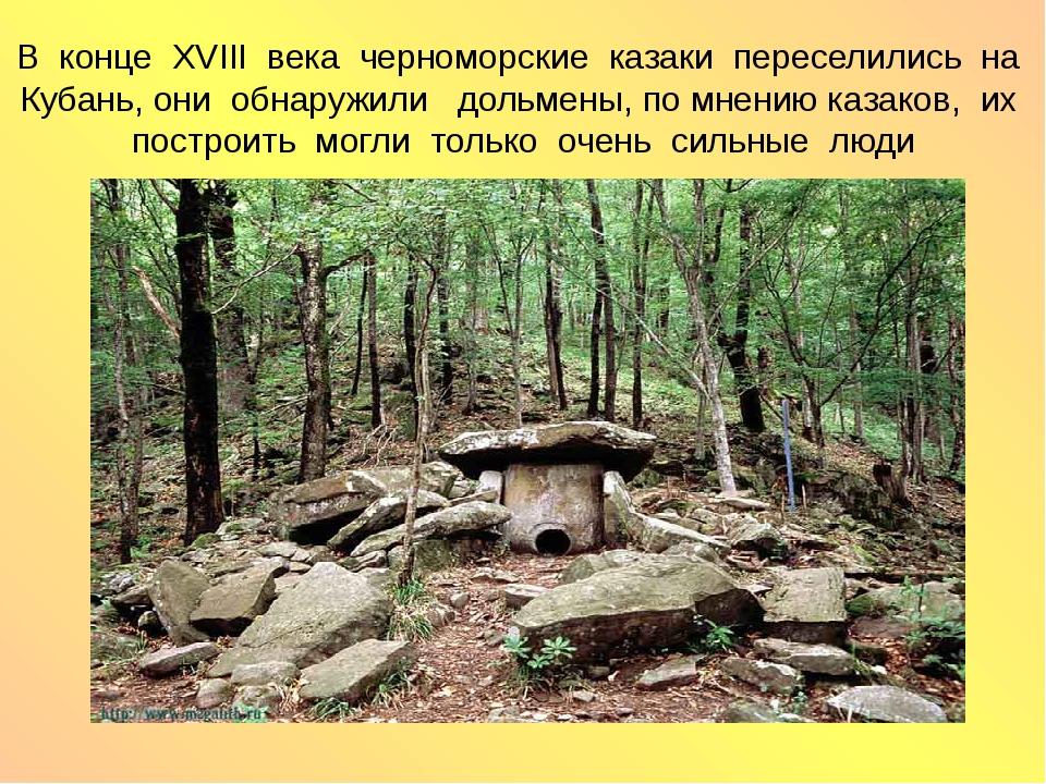 В конце XVIII века черноморские казаки переселились на Кубань, они обнаружили...