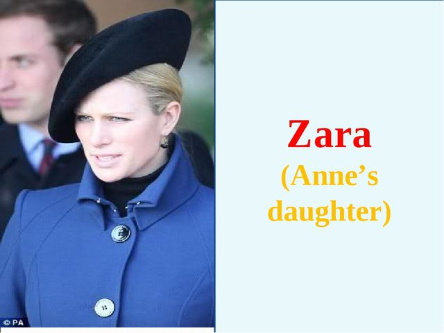 Zara (Anne's daughter)