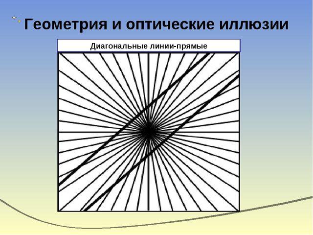 Геометрия и оптические иллюзии Диагональные линии-прямые