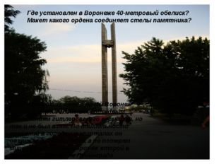212 тяжелейших дней и ночей Воронеж противостоял элитным войсковым соединения