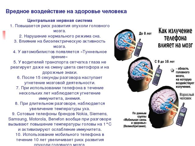 Вредное воздействие на здоровье человека Центральная нервная система 1. Повыш...
