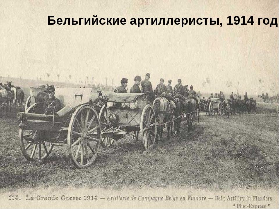 Бельгийские артиллеристы, 1914 год