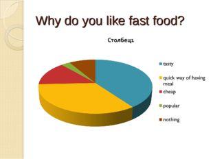 Why do you like fast food?