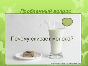 Проблемный вопрос Почему скисает молоко?