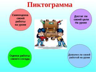 Пиктограмма Оценка работы своего соседа Доволен ли своей работой на уроке Дос