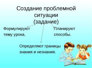 Формулируют Планируют тему урока. способы. Определяют границы знания и незнан