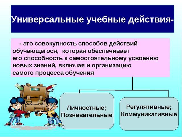 - это совокупность способов действий обучающегося, которая обеспечивает его...