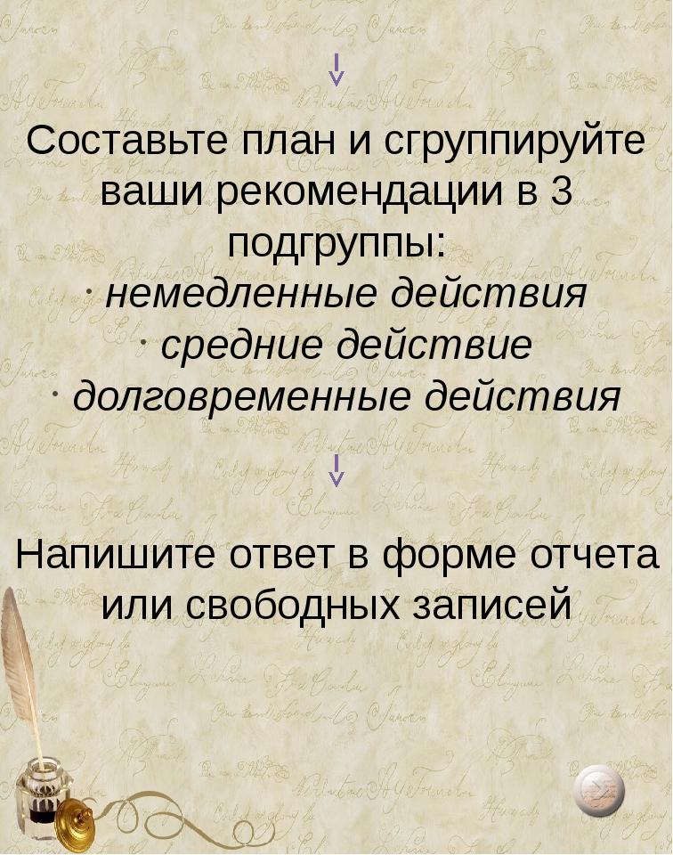 Пятый- Действие сопровождается проговариванием «про себя»; Шестой- Полный...
