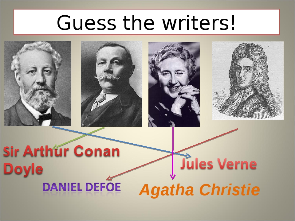 Guess the writers! Agatha Christie