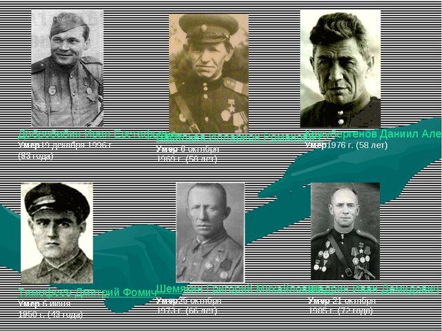 Добробабин Иван Евстафьевич Умер19 декабря 1996 г. (83 года) Васильев Илларио...