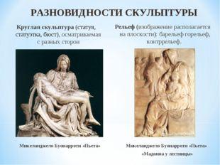 Круглая скульптура (статуя, статуэтка, бюст), осматриваемая с разных сторон Р