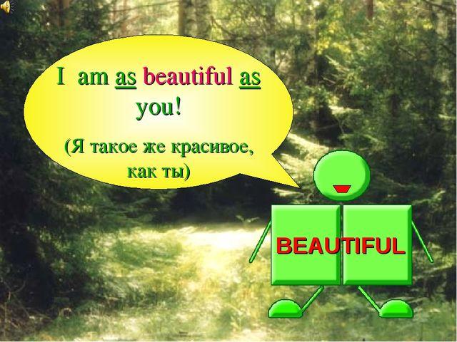 BEAUTIFUL I am as beautiful as you! (Я такое же красивое, как ты)