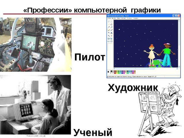 Пилот Художник Ученый «Профессии» компьютерной графики