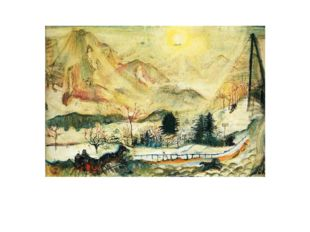 «Dent du Midi» Оскар Кокошка 1911г. Солнце согревает картины художников-эксп