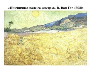«Пшеничное поле со жнецом» В. Ван Гог 1898г.