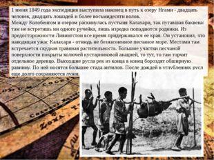 1 июня 1849 года экспедиция выступила наконец в путь к озеру Нгами - двадцат