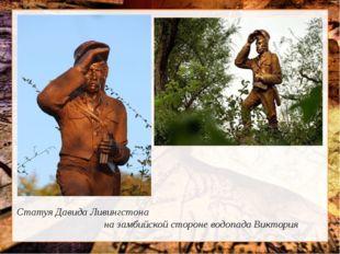 Статуя Давида Ливингстона на замбийской стороне водопада Виктория