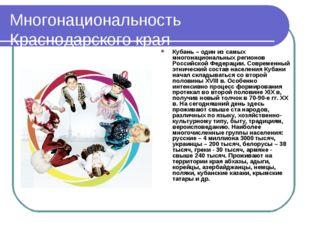 Многонациональность Краснодарского края Кубань – один из самых многонациональ