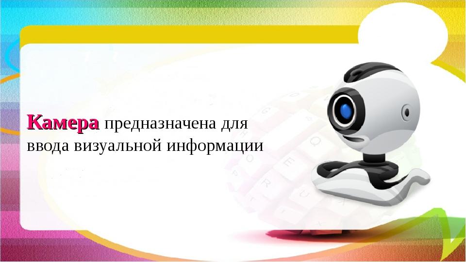 Камера предназначена для ввода визуальной информации