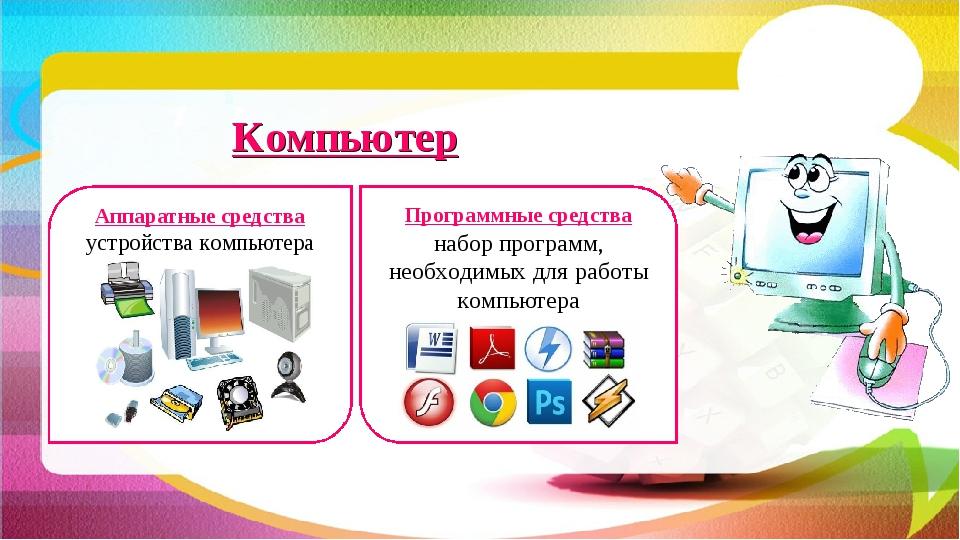 Компьютер Аппаратные средства устройства компьютера Программные средства набо...
