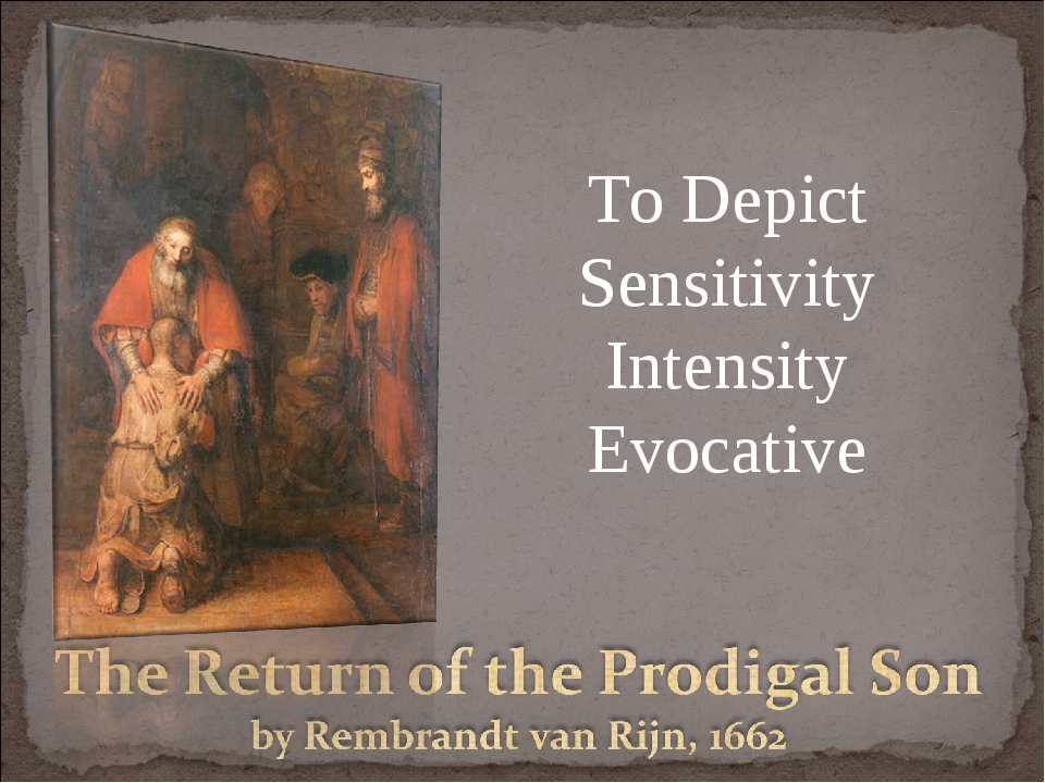To Depict Sensitivity Intensity Evocative