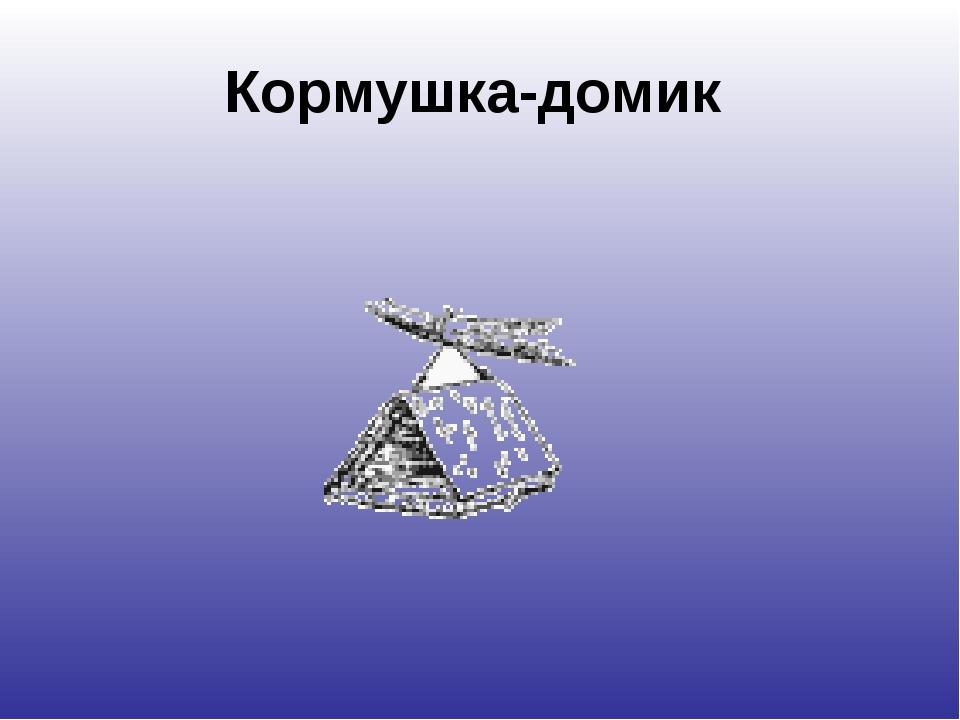Кормушка-домик