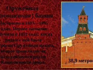 Оружейная (Конюшенная) башня Построена в 1493—1495 годах. Первое название пол