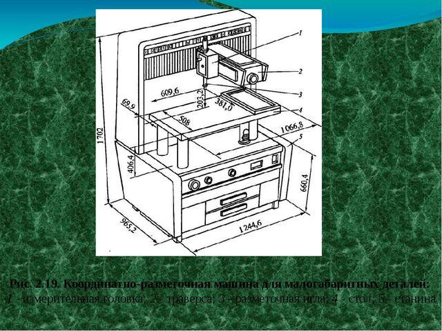 Рис. 2.19. Координатно-разметочная машина для малогабаритных деталей: 1 - изм...