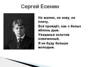 Сергей Есенин Не жалею, не зову, не плачу, Всё пройдёт, как с белых яблонь д