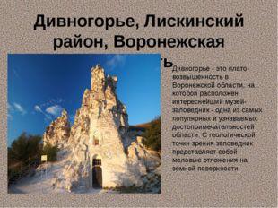 Дивногорье, Лискинский район, Воронежская область Дивногорье - это плато-возв