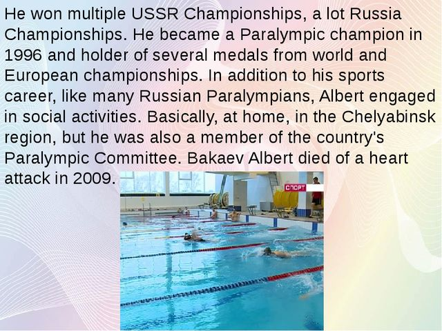 He won multiple USSR Championships, a lot Russia Championships. He became a P...