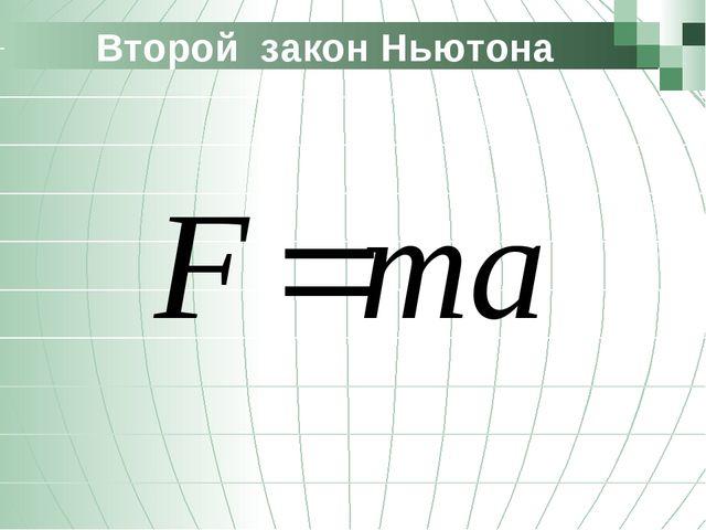 Второй закон Ньютона