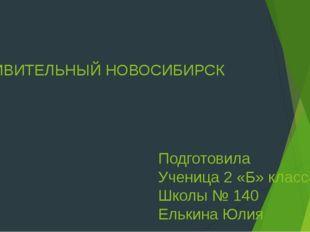 УДИВИТЕЛЬНЫЙ НОВОСИБИРСК Подготовила Ученица 2 «Б» класса Школы № 140 Елькина