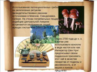 Использование галлюциногенных грибов на религиозных ритуалах засвидетельствов
