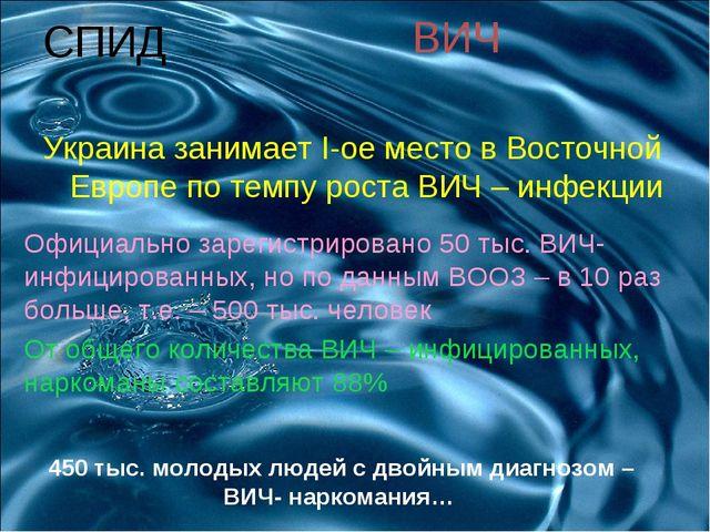 СПИД Украина занимает I-ое место в Восточной Европе по темпу роста ВИЧ – инфе...