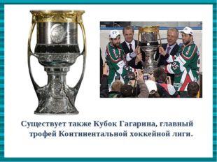Существует также Кубок Гагарина, главный трофей Континентальной хоккейной лиг