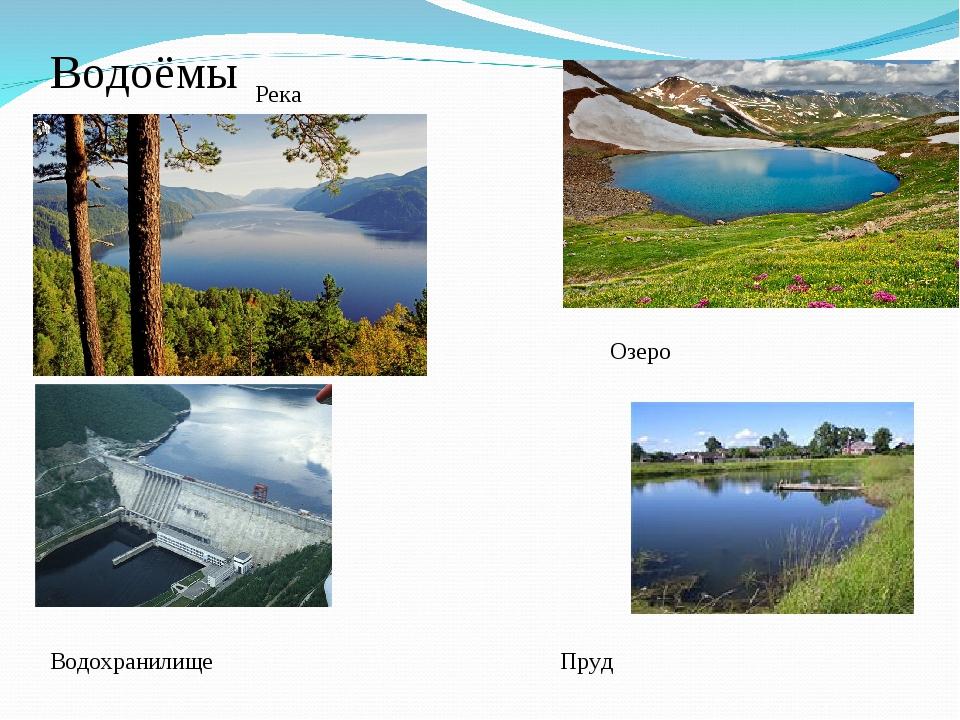 Водоёмы Река Озеро Водохранилище Пруд