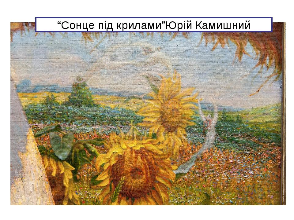 """""""Сонце під крилами""""Юрій Камишний"""