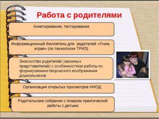 Организация открытых просмотров ННОД Информационный бюллетень для родителей «