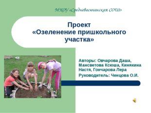 Проект «Озеленение пришкольного участка» Авторы: Овчарова Даша, Мансветова Кс