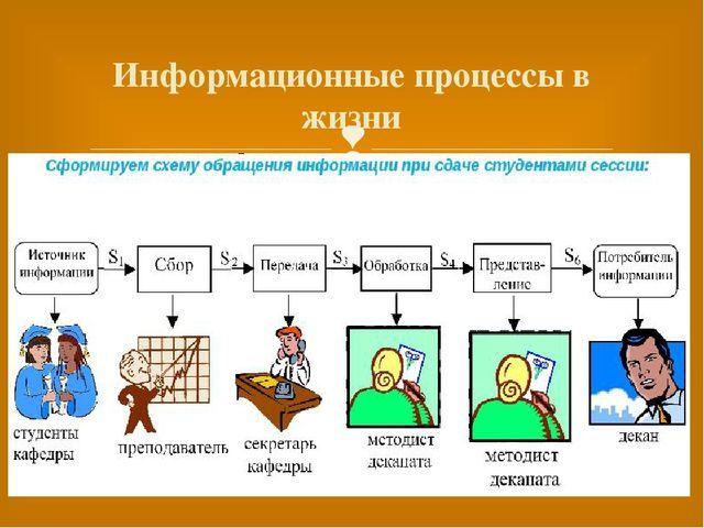 Информационные процессы в жизни 