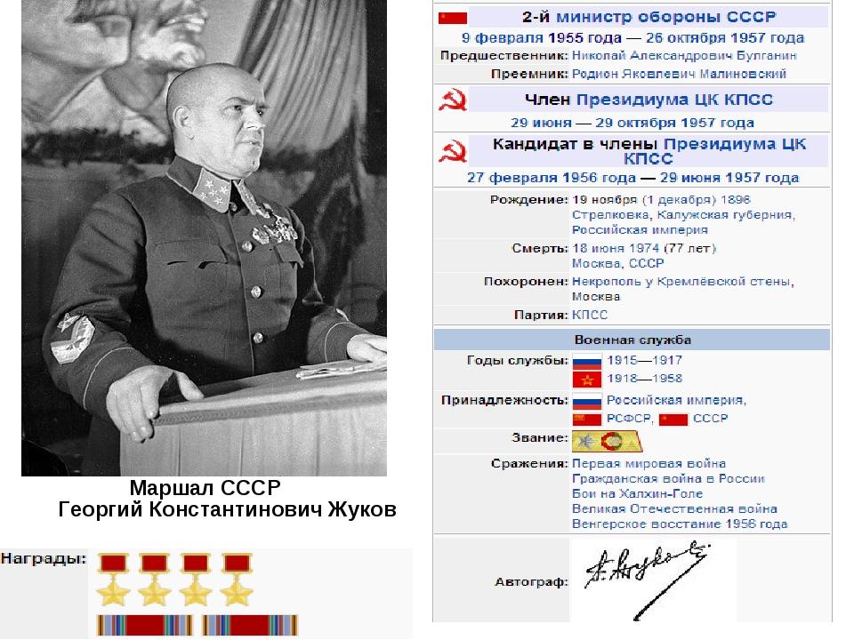Георгий Константинович Жуков Маршал СССР