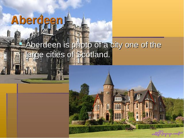 Aberdeen Aberdeen is photo of a city one of the large cities of Scotland.