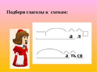 Подбери глаголы к схемам: 2 вариант.