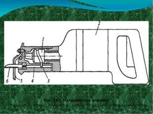 Ручной механизированный инструмент Рис. 2.62. Механическая ножовка: 1 - бара