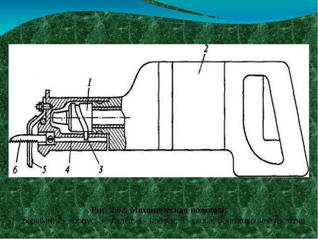Ручной механизированный инструмент Рис. 2.62. Механическая ножовка: 1 - бара...
